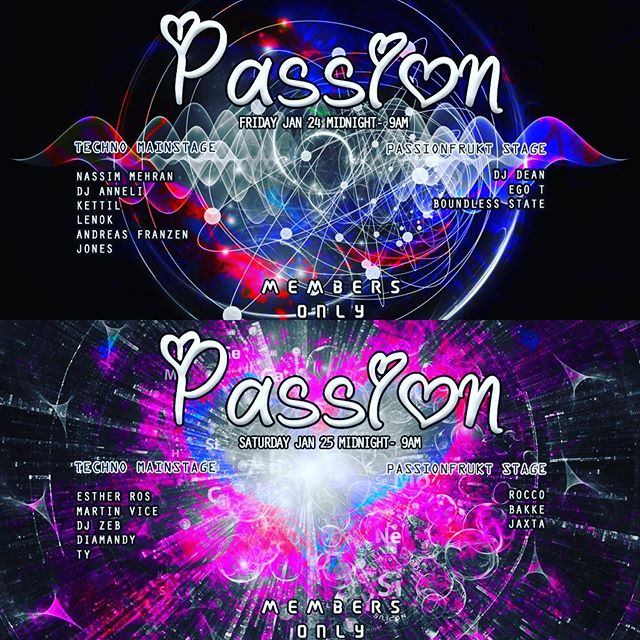 Passion weekend 24+25 Jan